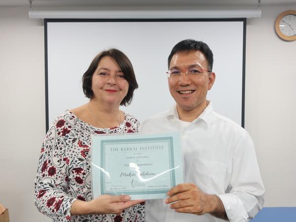 VM-1 セミナー参加者の嵩原先生がVM-1ティーチングアシスタントに認定されました。